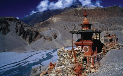 Tranquility amidst dry mountains of Upper Mustang