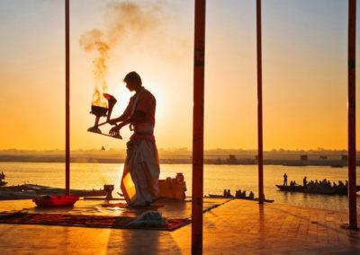 Puja by Ganges - Varanasi