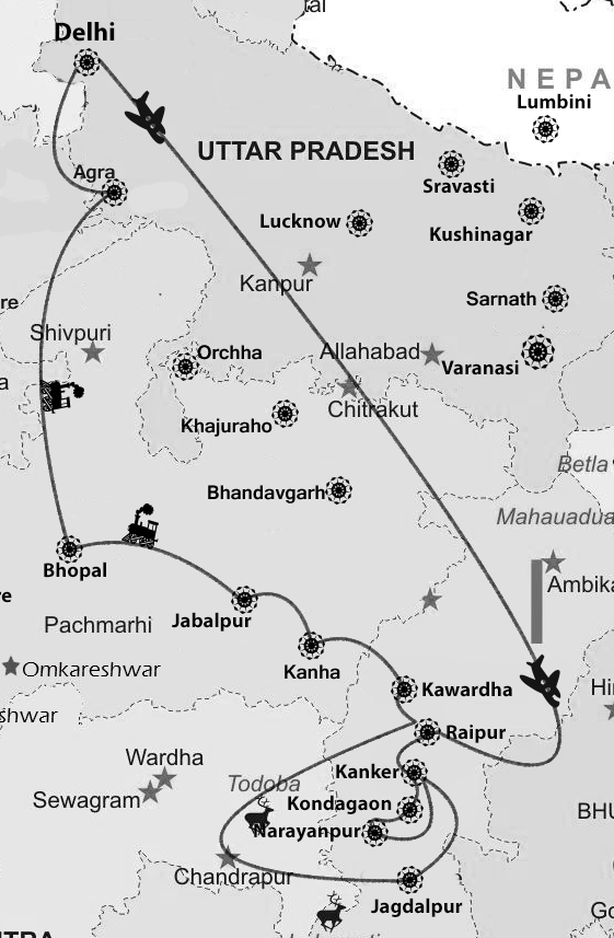 map of Nawabs of Lucknow